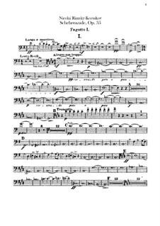 Scheherazade, Op.35: Bassoons parts by Nikolai Rimsky-Korsakov