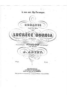 Romance on Theme from 'Lucrezia Borgia' by G. Donizetti: Solo part by Alexandre Joseph Artôt