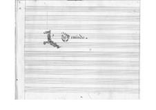 Ormindo: Prologue by Pietro Francesco Cavalli