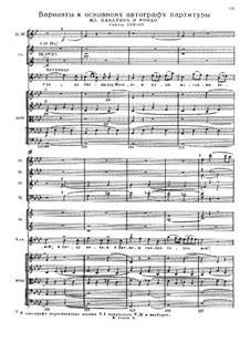 Fragments (Alternative Versions): Full score by Mikhail Glinka