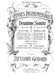 Sonata for Violin No.2: Violin Sonata No.2 by Benjamin Godard