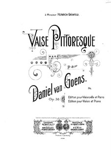 Valse pittoresque for Cello and Piano, Op.38: Solo part by Daniel Van Goens