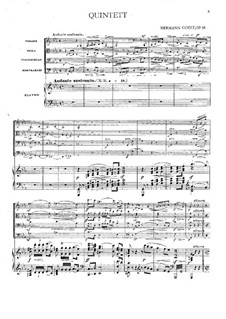 Piano Quintet in C Minor, Op.16: Full score and parts by Hermann Goetz