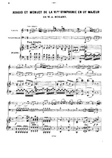 Symphony No.36 in C Major, K.425: Adagio and Minuet, for piano trio by Wolfgang Amadeus Mozart