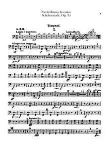 Scheherazade, Op.35: Timpani part by Nikolai Rimsky-Korsakov