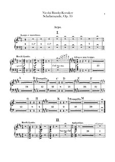 Scheherazade, Op.35: Harp part by Nikolai Rimsky-Korsakov