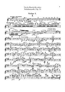 Scheherazade, Op.35: Violin I part by Nikolai Rimsky-Korsakov