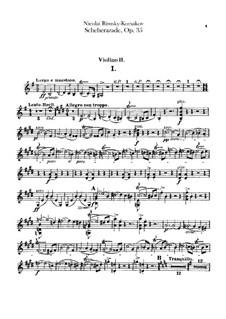 Scheherazade, Op.35: Violin II part by Nikolai Rimsky-Korsakov