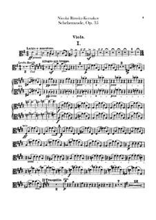 Scheherazade, Op.35: Viola part by Nikolai Rimsky-Korsakov