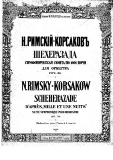 Scheherazade, Op.35: For piano four hands by Nikolai Rimsky-Korsakov