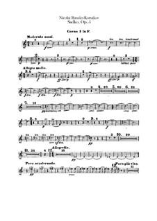 Sadko. Musical Picture, Op.5: Horns parts by Nikolai Rimsky-Korsakov