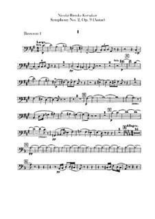 Symphony No.2 in F Sharp Minor 'Antar', Op.9: Bassoons parts by Nikolai Rimsky-Korsakov