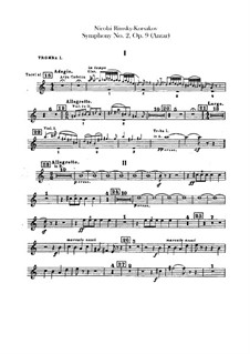 Symphony No.2 in F Sharp Minor 'Antar', Op.9: Trumpets parts by Nikolai Rimsky-Korsakov