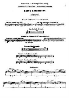 Wellington's Victory, or the Battle of Vitoria, Op.91: Percussion parts (french side) by Ludwig van Beethoven