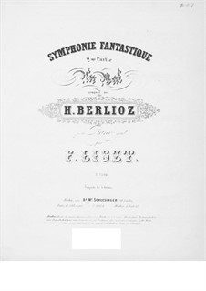 Symphonie fantastique (Fantastic Symphony), H.48 Op.14: Movement II, for piano by Hector Berlioz