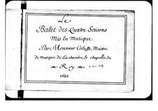 Les Saisons: Prologue by Pascal Collasse