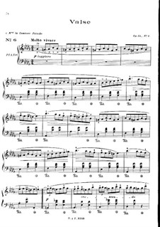 No.1 in D Flat Major: For piano by Frédéric Chopin