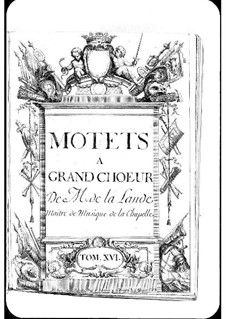 Motets (Collections): Volume XVI by Michel Richard de Lalande
