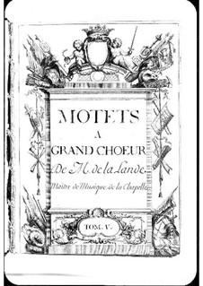 Motets (Collections): Volume V by Michel Richard de Lalande
