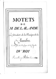 Grand Motets (Collections): Volume VIII by Michel Richard de Lalande
