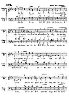 Gottes Lamm: In Es-Dur by Gottfried August Homilius