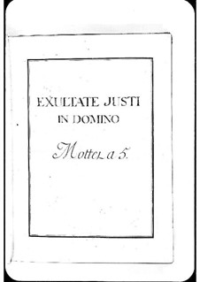 Exultate justi in Domino: Exultate justi in Domino by Michel Richard de Lalande
