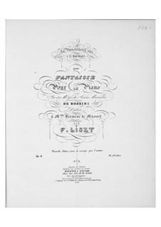 Fantasia No.2 on Theme from 'Les soirées musicales' by Rossini, S.423: Fantasia No.2 on Theme from 'Les soirées musicales' by Rossini by Franz Liszt
