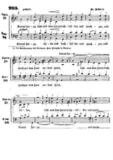 Kommt herzu: Singpartitur by Eduard Rohde