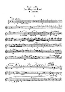 Das klagende Lied (Song of Lamentation): Clarinets parts by Gustav Mahler