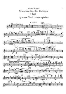 Symphony No.8 in E Flat Major: Flutes parts by Gustav Mahler