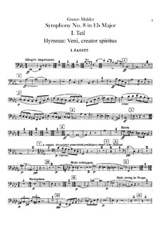 Symphony No.8 in E Flat Major: Bassoons and contrabassoon parts by Gustav Mahler