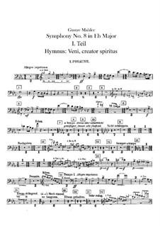 Symphony No.8 in E Flat Major: Trombones and bass tuba parts by Gustav Mahler