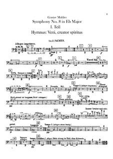 Symphony No.8 in E Flat Major: Percussion parts by Gustav Mahler