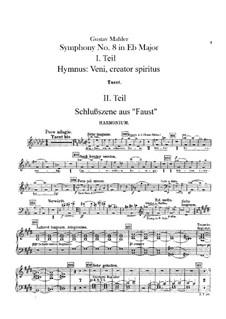 Symphony No.8 in E Flat Major: Harmonium part by Gustav Mahler
