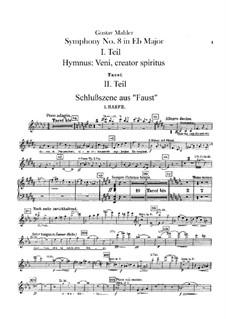 Symphony No.8 in E Flat Major: Harps parts by Gustav Mahler