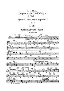 Symphony No.8 in E Flat Major: Mandolin part by Gustav Mahler