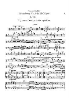 Symphony No.8 in E Flat Major: Violas part by Gustav Mahler