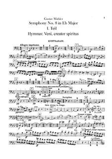 Symphony No.8 in E Flat Major: Double basses part by Gustav Mahler