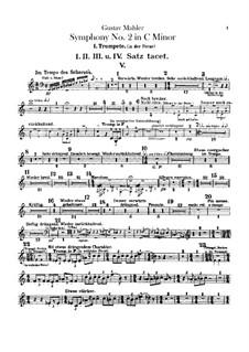 Symphony No.2 in C Minor 'Resurrection': Trumpets parts by Gustav Mahler