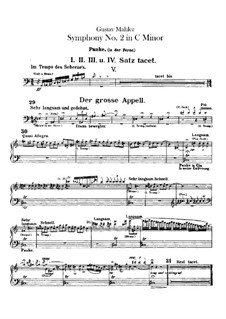 Symphony No.2 in C Minor 'Resurrection': Percussion parts by Gustav Mahler