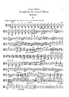 Symphony No.2 in C Minor 'Resurrection': Violas Part by Gustav Mahler