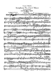 Symphony No.2 in C Minor 'Resurrection': Backstage orchestra full score by Gustav Mahler
