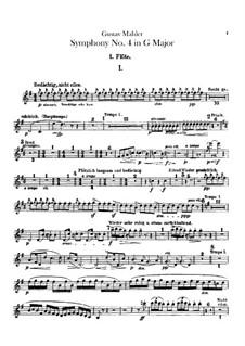 Symphony No.4 in G Major: Flutes parts by Gustav Mahler