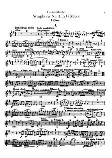 Symphony No.4 in G Major: Oboes or cor anglais parts by Gustav Mahler