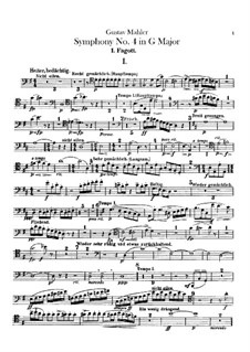 Symphony No.4 in G Major: Bassoons parts by Gustav Mahler