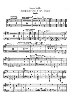 Symphony No.4 in G Major: Harp part by Gustav Mahler