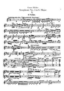 Symphony No.4 in G Major: Violins II parts by Gustav Mahler