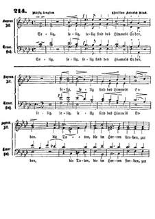 Selig sind des Himmels Erben: For mixed choir by Christian Heinrich Rinck