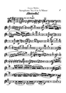 Symphony No.6 in A Minor 'Tragic': Clarinets parts by Gustav Mahler