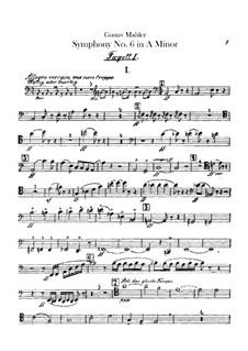 Symphony No.6 in A Minor 'Tragic': Bassoons parts by Gustav Mahler